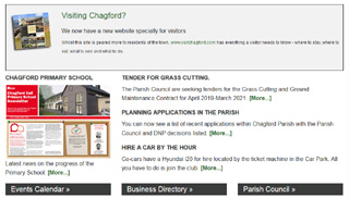 Chagford Parish web site